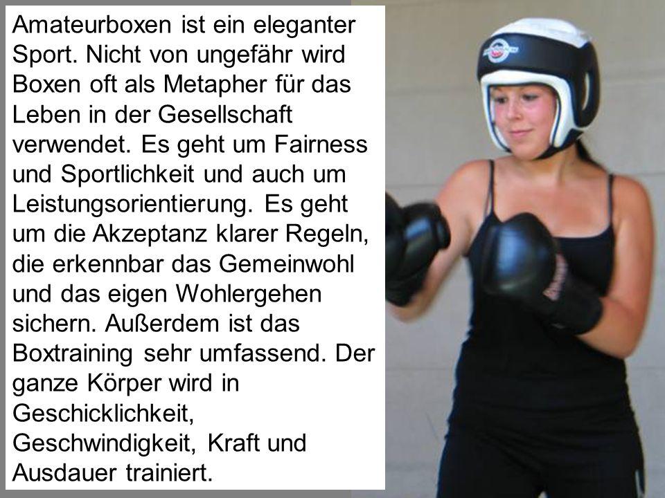 Amateurboxen ist ein eleganter Sport
