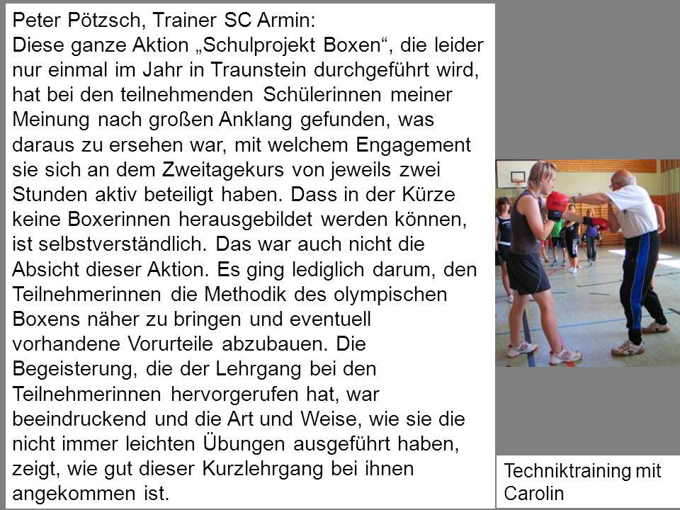 Peter Pötzsch, Trainer SC Armin: