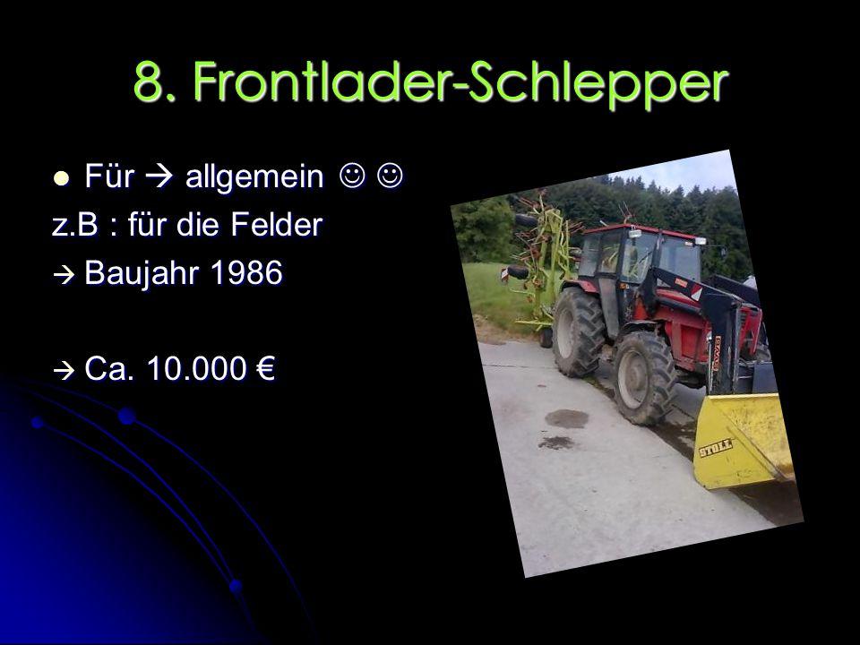 8. Frontlader-Schlepper