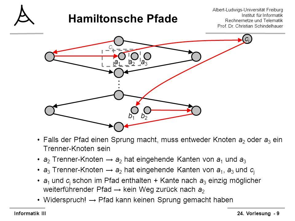 Hamiltonsche Pfade … a1 a2 a3 b1 b2 cj