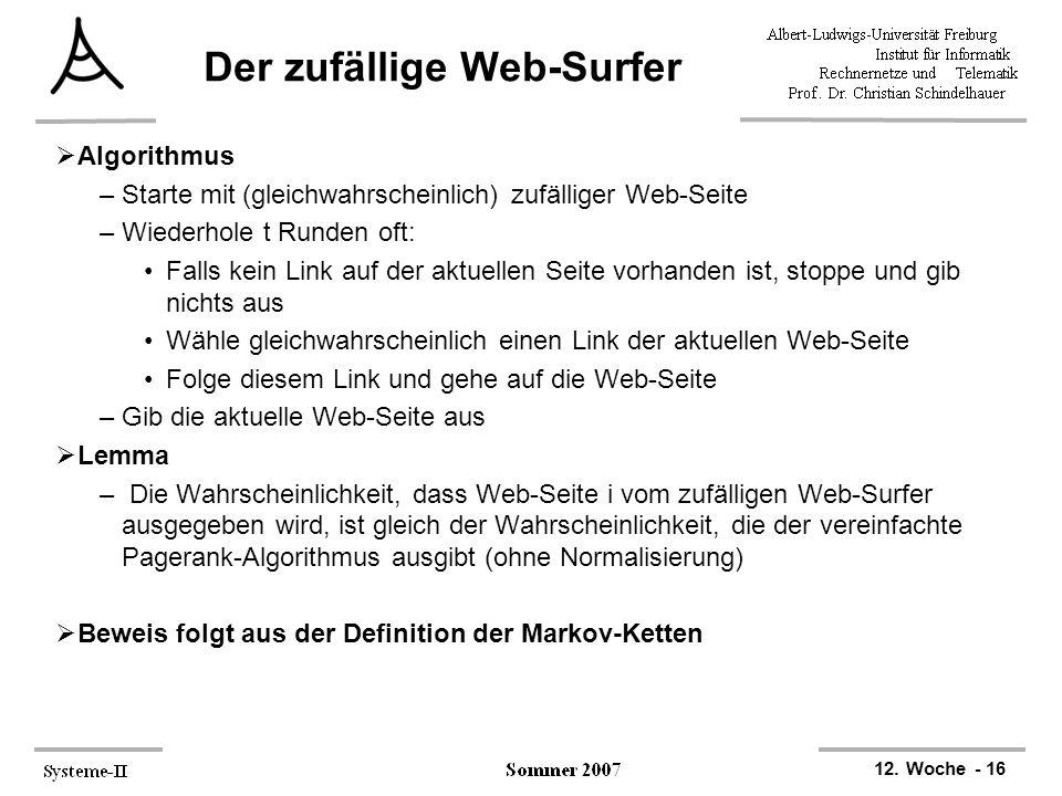 Der zufällige Web-Surfer