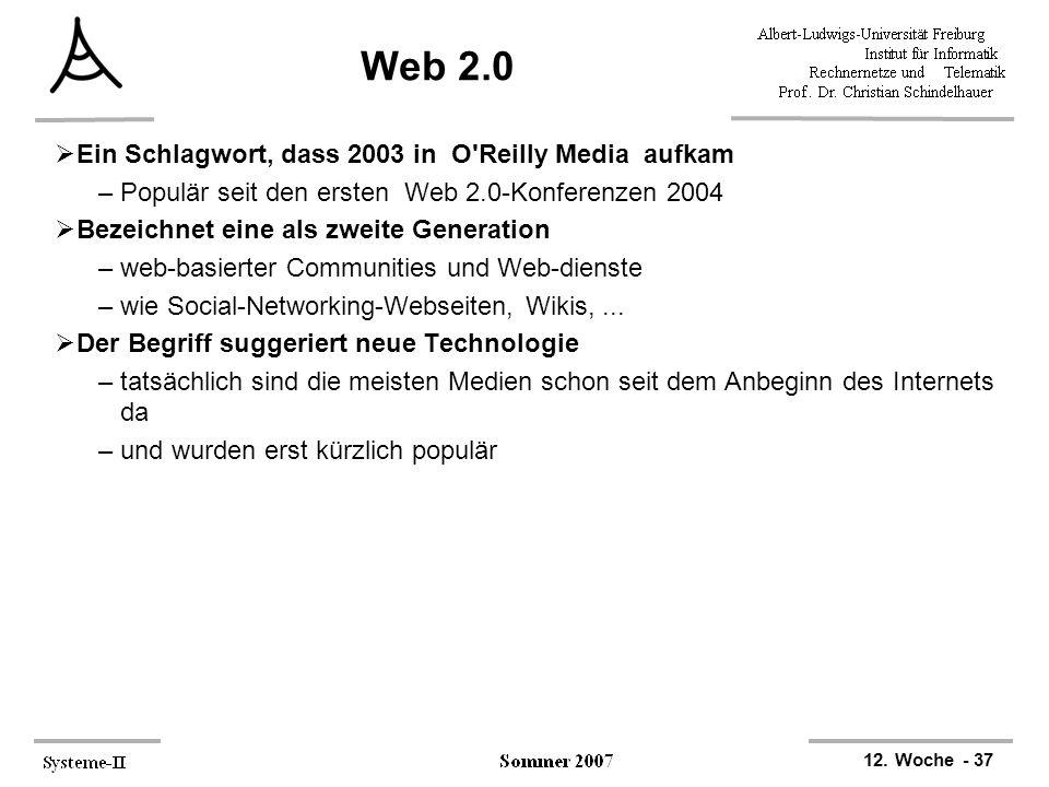 Web 2.0 Ein Schlagwort, dass 2003 in O Reilly Media aufkam