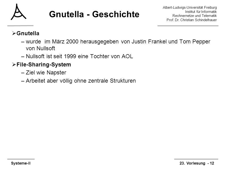 Gnutella - Geschichte Gnutella