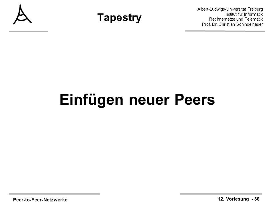 Tapestry Einfügen neuer Peers