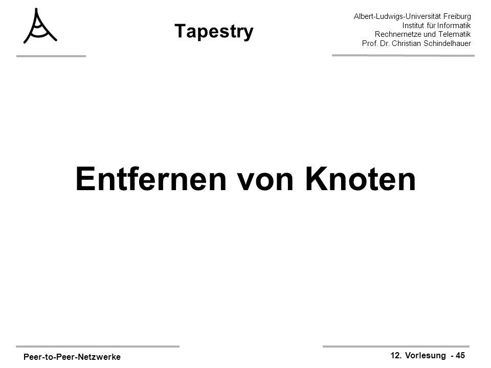 Tapestry Entfernen von Knoten