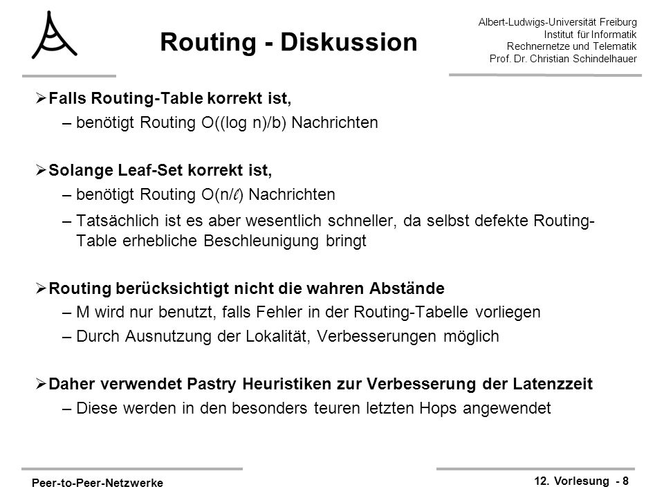 Routing - Diskussion Falls Routing-Table korrekt ist,
