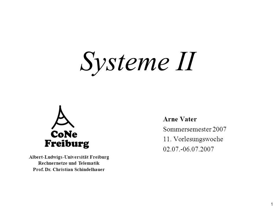 Arne Vater Sommersemester 2007 11. Vorlesungswoche 02.07.-06.07.2007