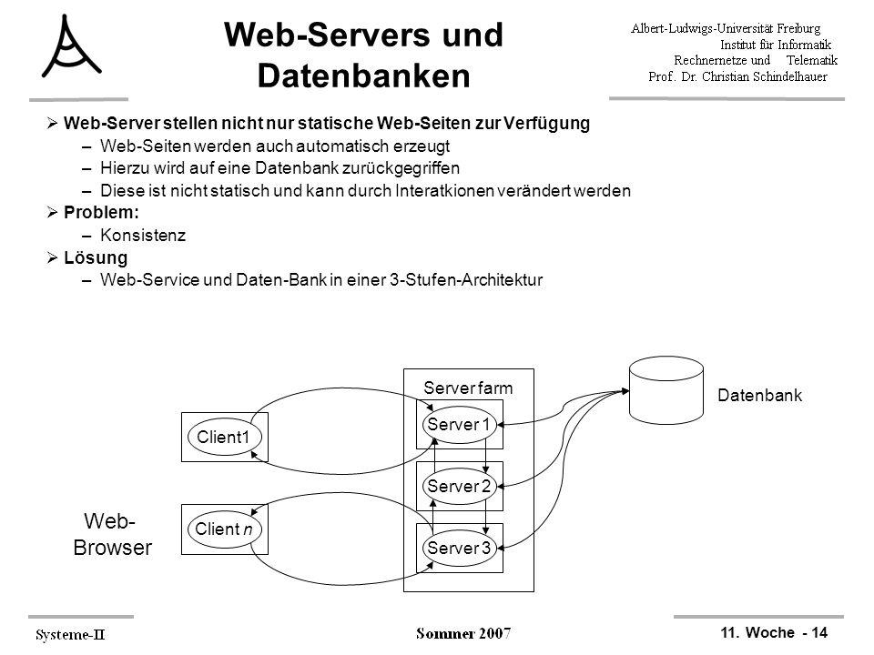 Web-Servers und Datenbanken