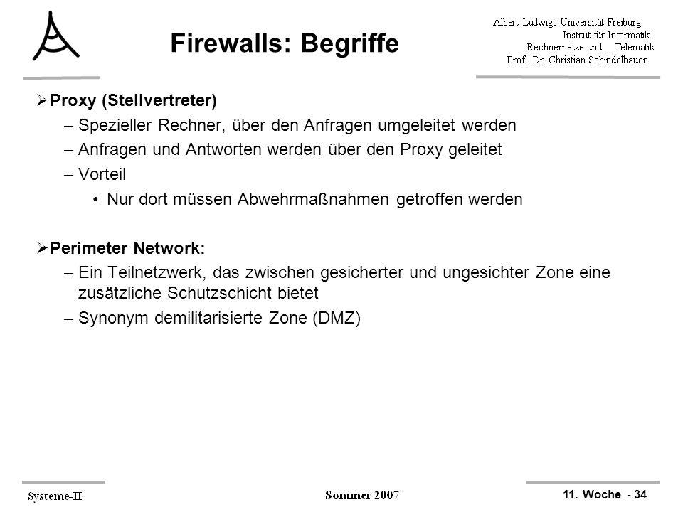 Firewalls: Begriffe Proxy (Stellvertreter)