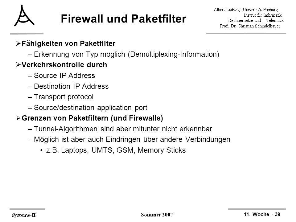 Firewall und Paketfilter