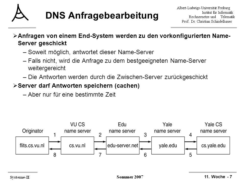 DNS Anfragebearbeitung