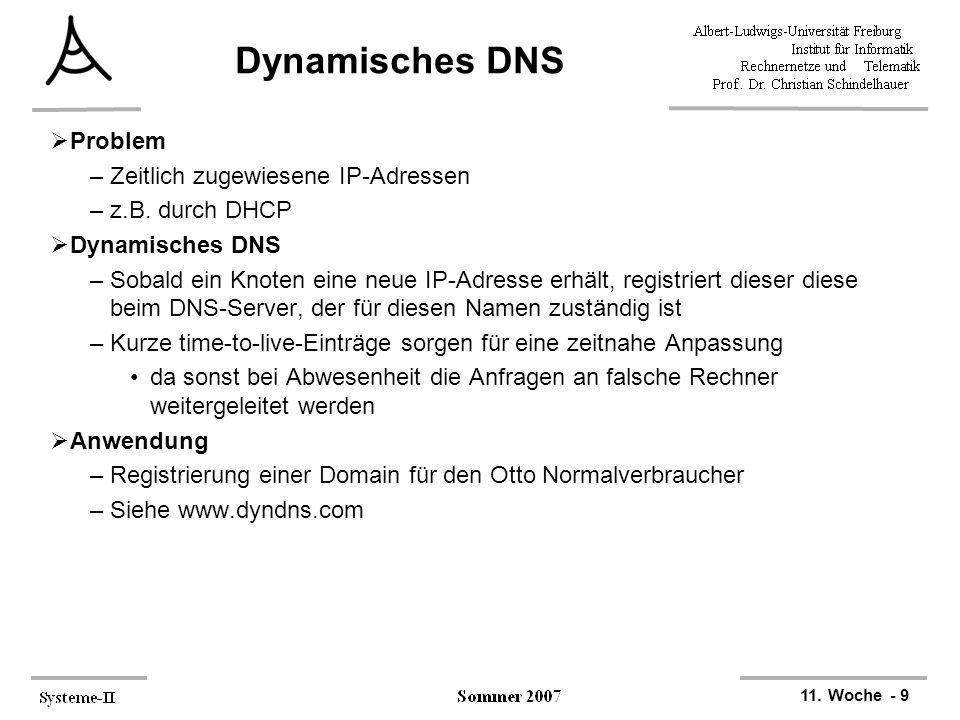 Dynamisches DNS Problem Zeitlich zugewiesene IP-Adressen