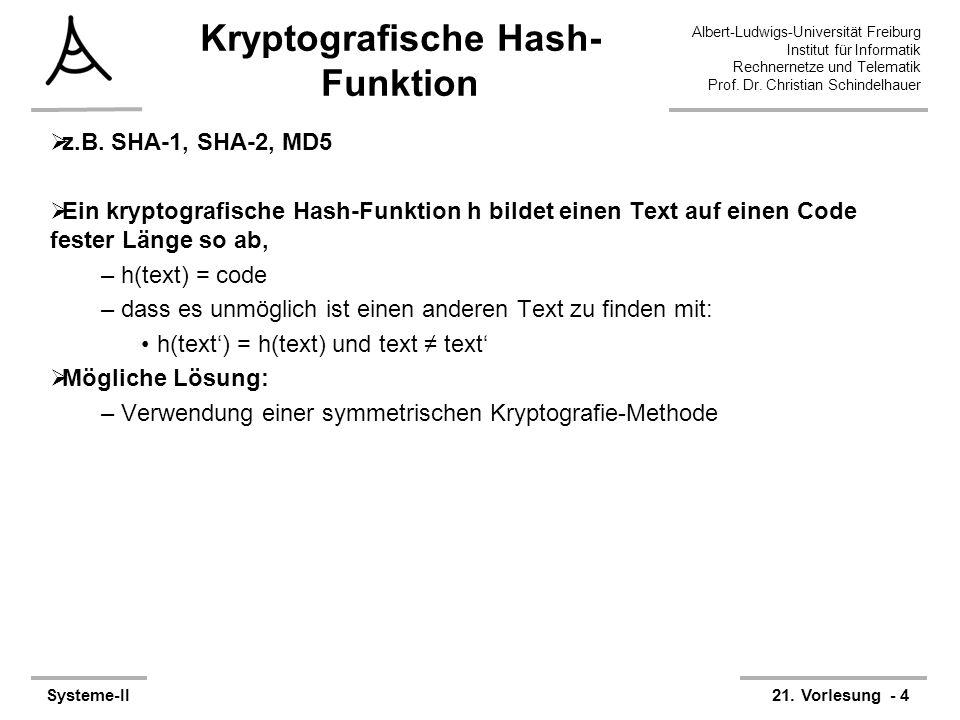 Kryptografische Hash-Funktion