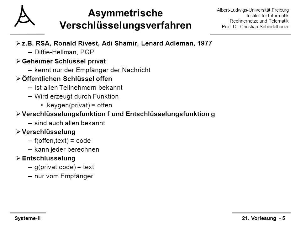 Asymmetrische Verschlüsselungsverfahren