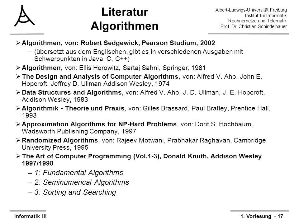 Literatur Algorithmen