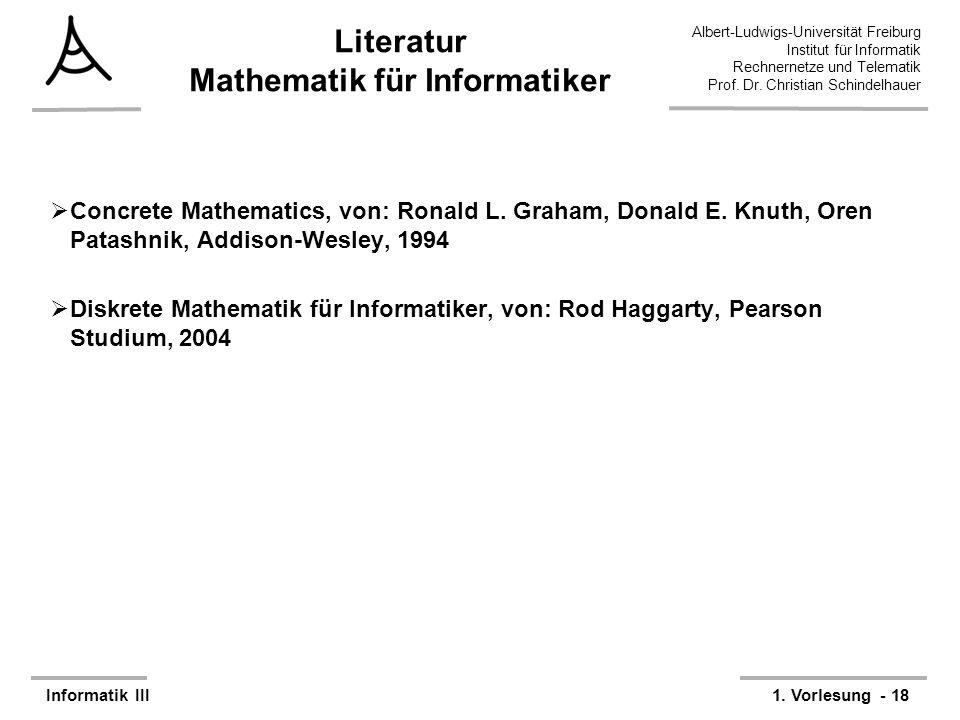 Literatur Mathematik für Informatiker