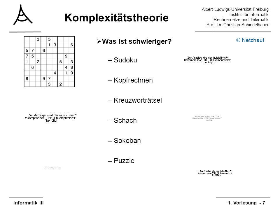 Komplexitätstheorie Was ist schwieriger Sudoku Kopfrechnen