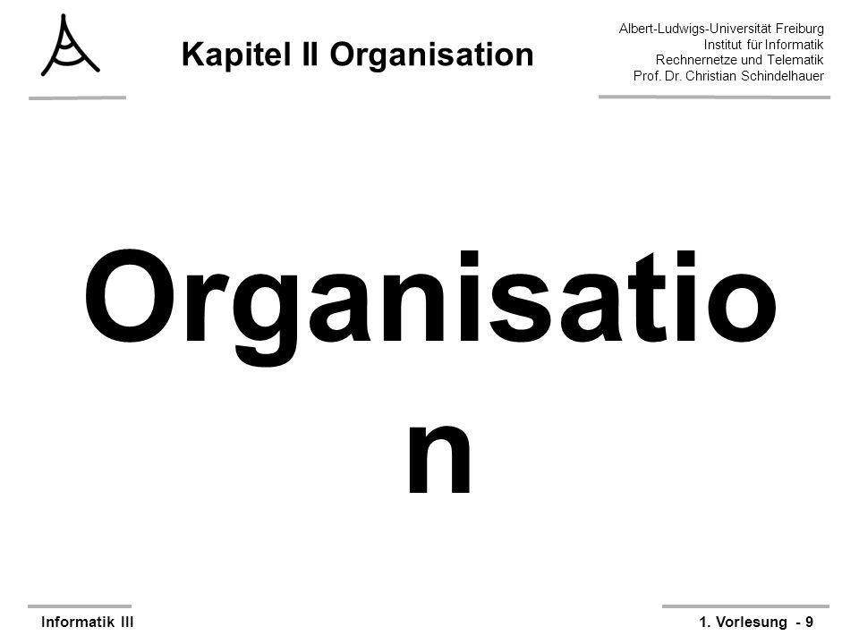 Kapitel II Organisation