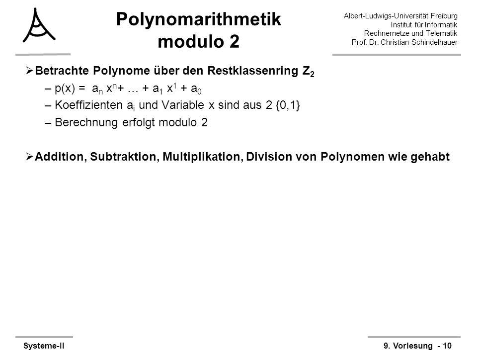 Polynomarithmetik modulo 2