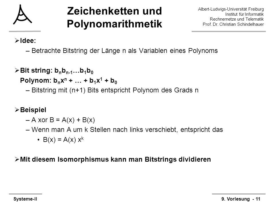 Zeichenketten und Polynomarithmetik