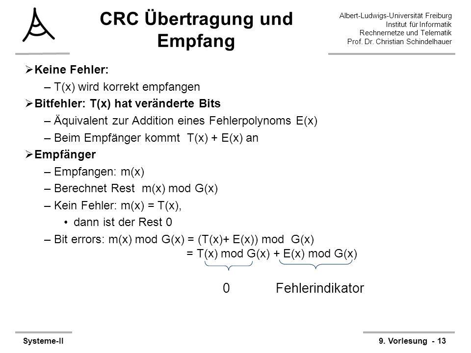 CRC Übertragung und Empfang