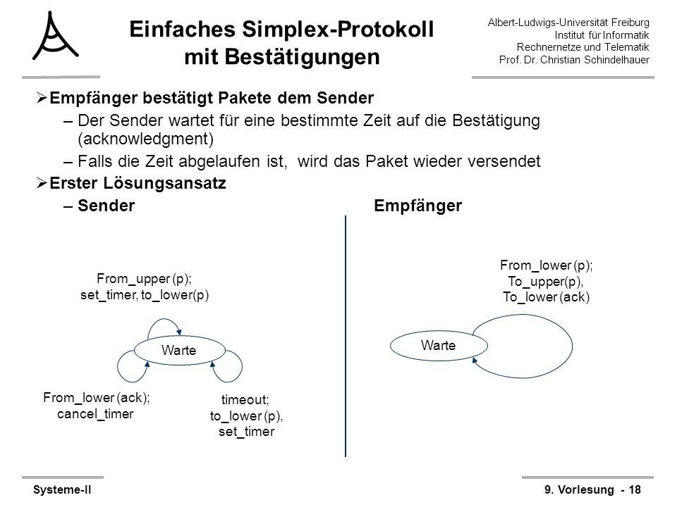 Einfaches Simplex-Protokoll mit Bestätigungen