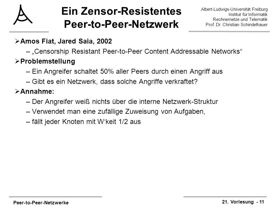 Ein Zensor-Resistentes Peer-to-Peer-Netzwerk