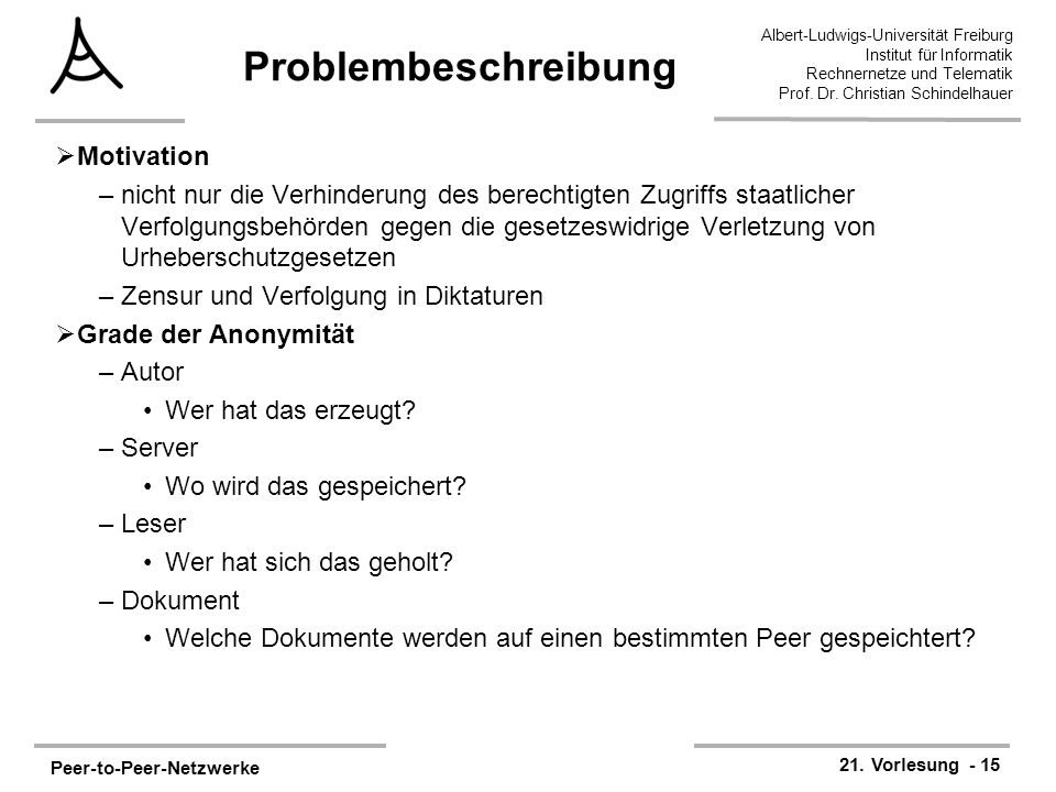 Problembeschreibung Motivation