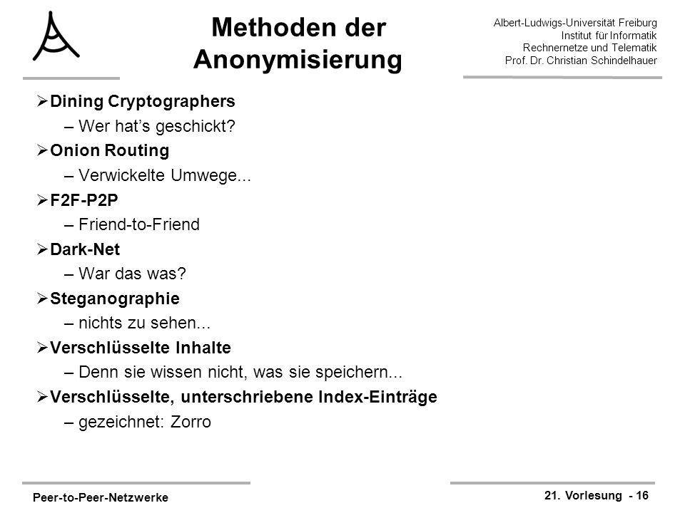 Methoden der Anonymisierung