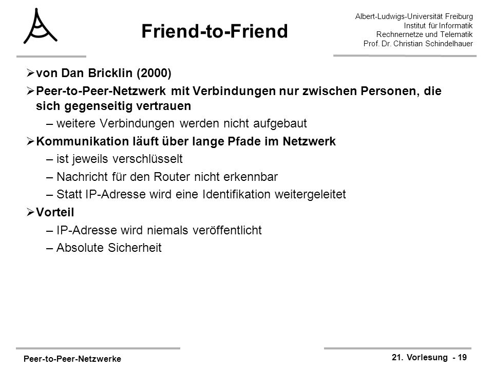 Friend-to-Friend von Dan Bricklin (2000)