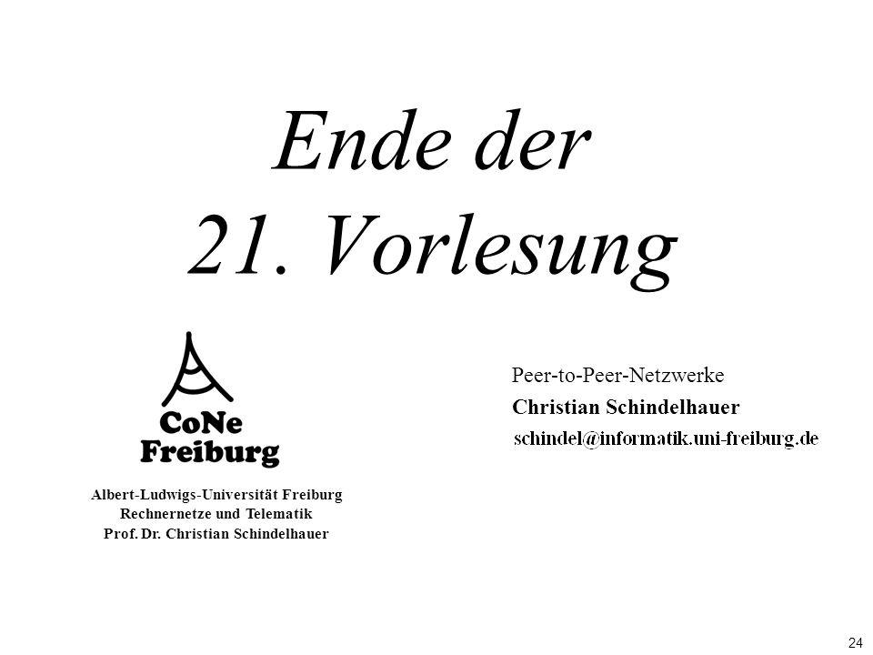 Peer-to-Peer-Netzwerke Christian Schindelhauer