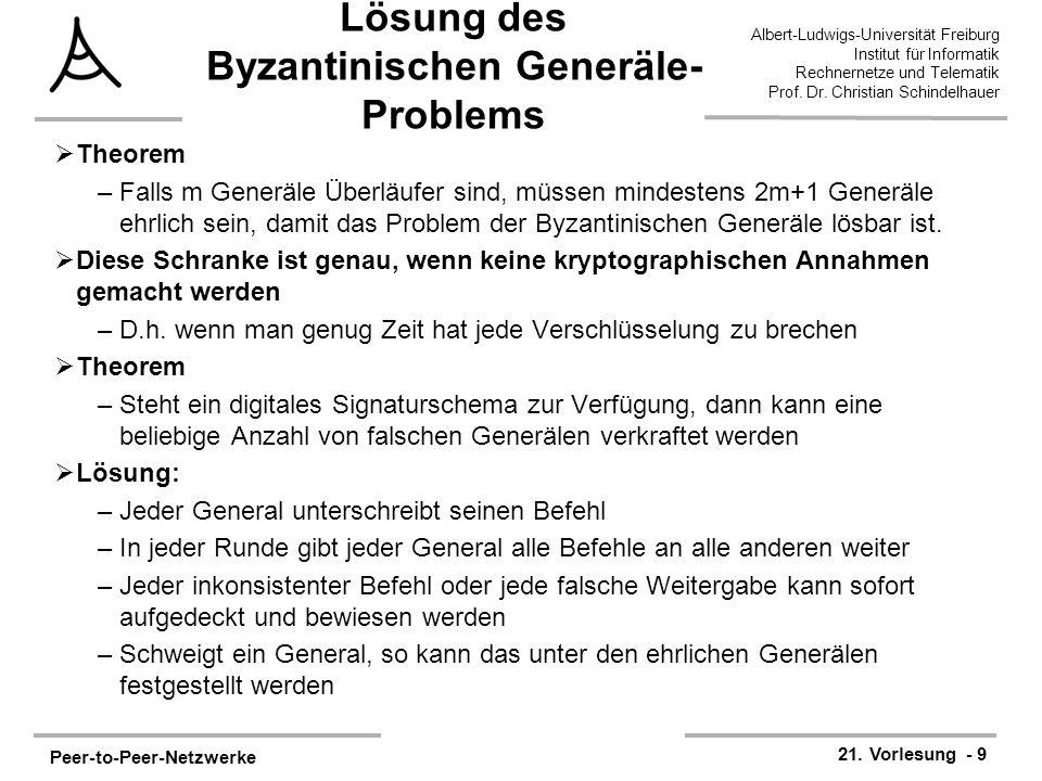 Lösung des Byzantinischen Generäle-Problems
