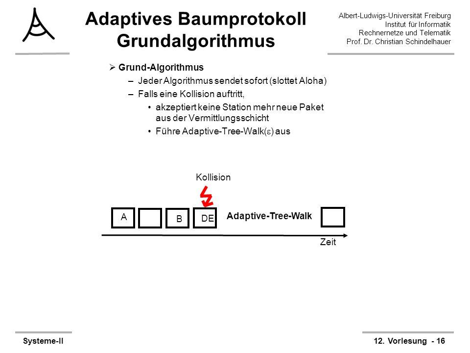 Adaptives Baumprotokoll Grundalgorithmus