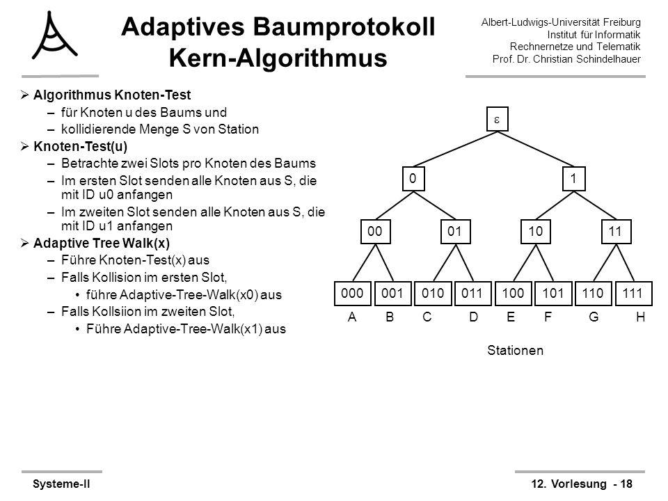 Adaptives Baumprotokoll Kern-Algorithmus