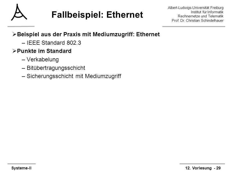Fallbeispiel: Ethernet
