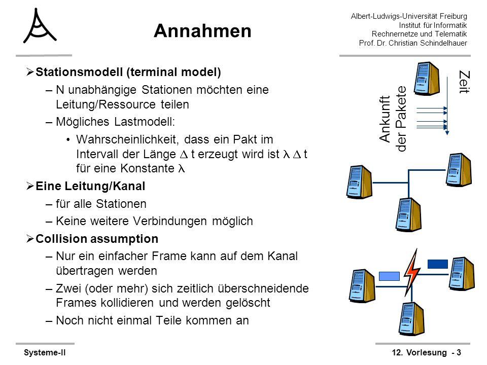 Annahmen Zeit Ankunft der Pakete Stationsmodell (terminal model)