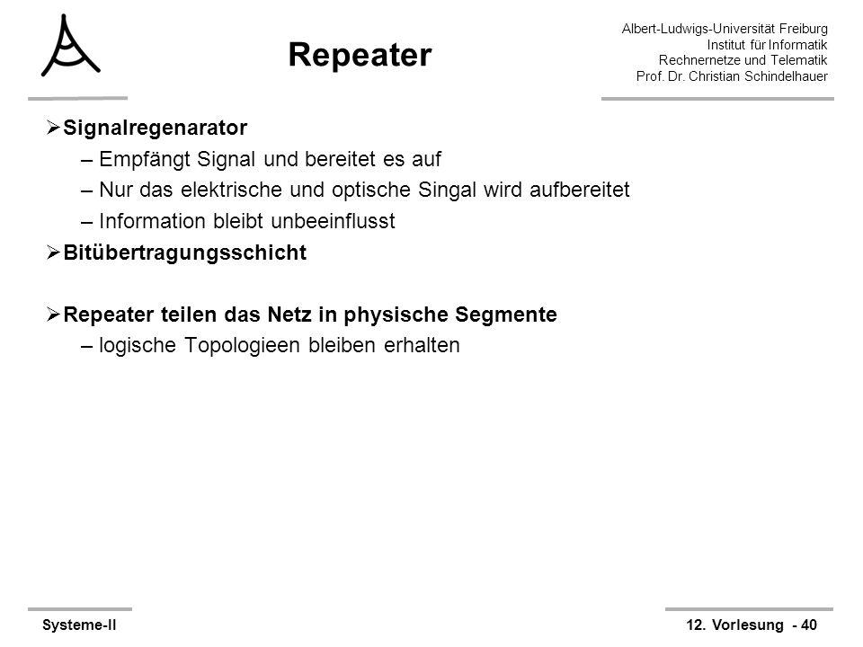 Repeater Signalregenarator Empfängt Signal und bereitet es auf