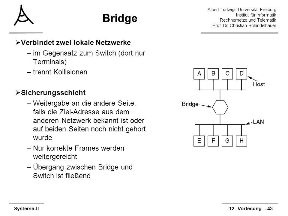 Bridge Verbindet zwei lokale Netzwerke