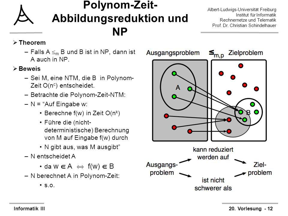 Polynom-Zeit-Abbildungsreduktion und NP