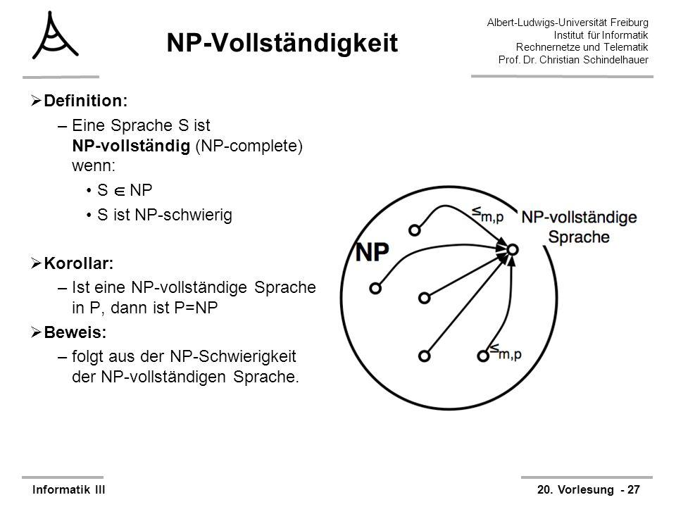 NP-Vollständigkeit Definition: