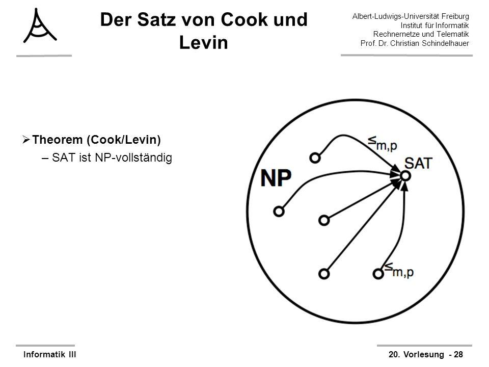 Der Satz von Cook und Levin