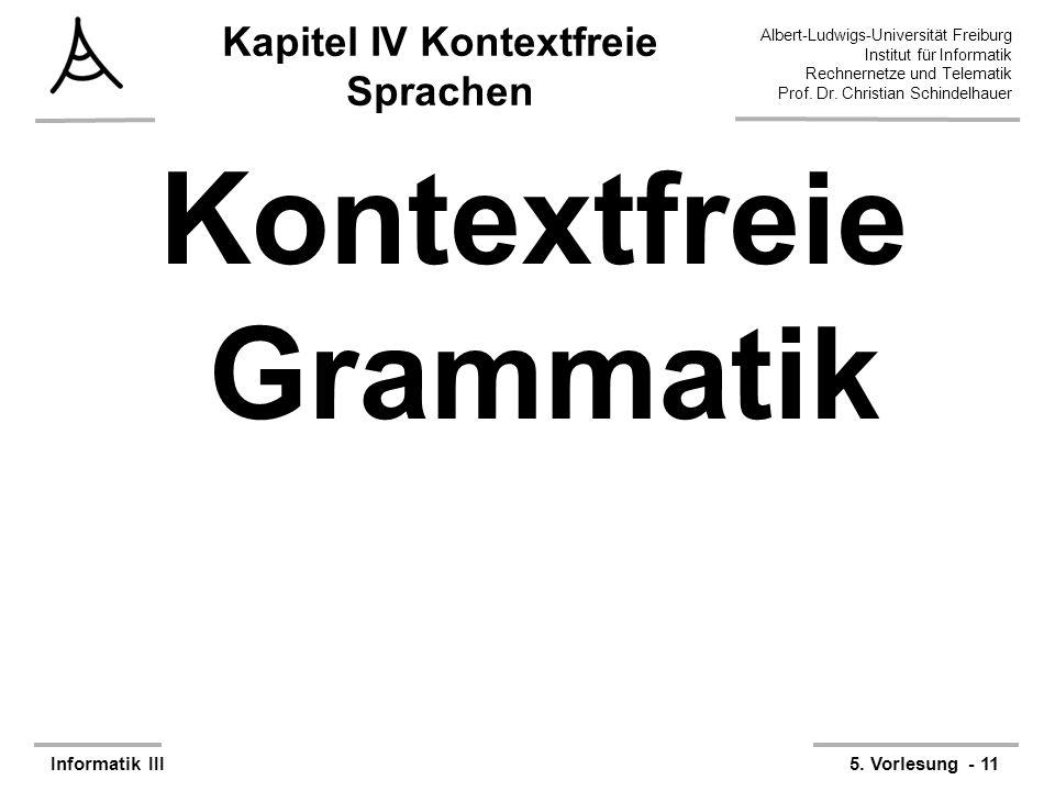 Kapitel IV Kontextfreie Sprachen