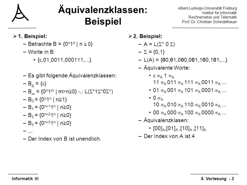 Äquivalenzklassen: Beispiel