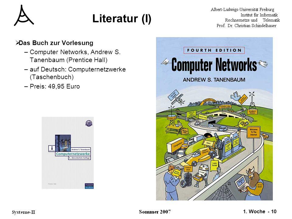 Literatur (I) Das Buch zur Vorlesung