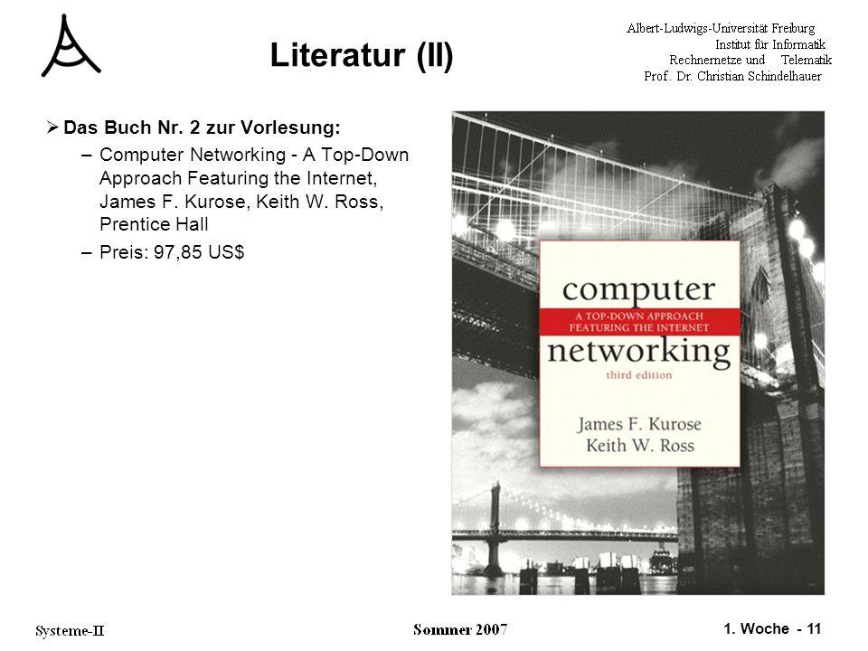 Literatur (II) Das Buch Nr. 2 zur Vorlesung: