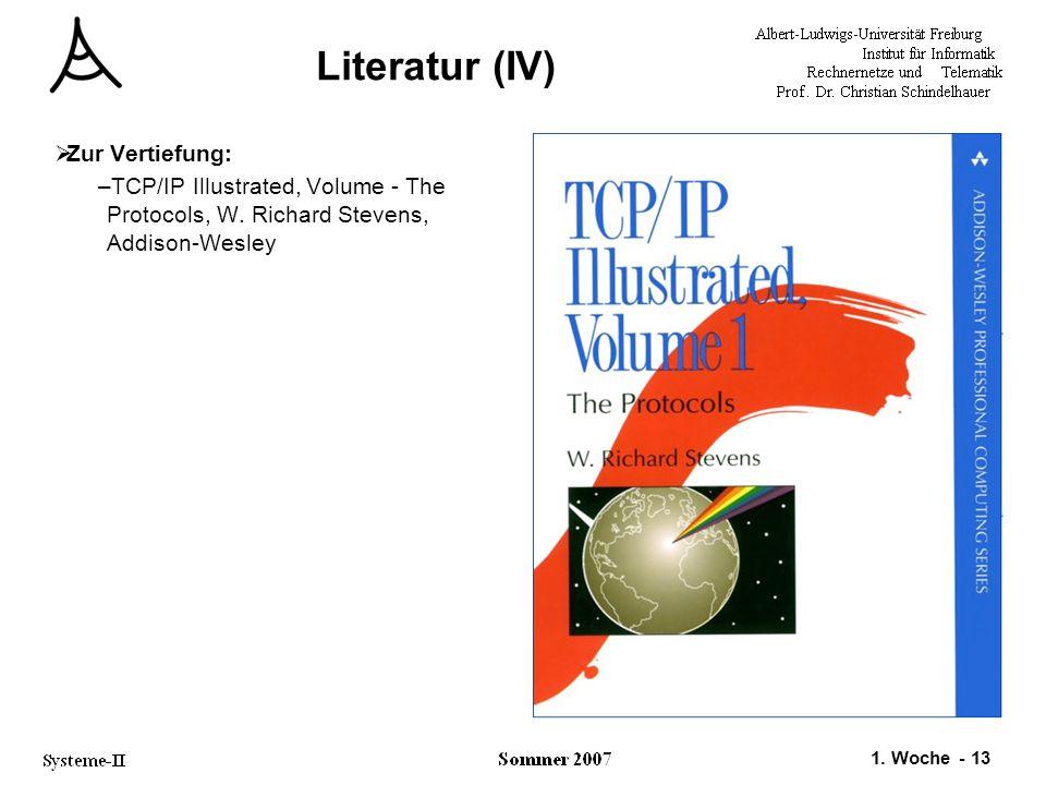 Literatur (IV) Zur Vertiefung: