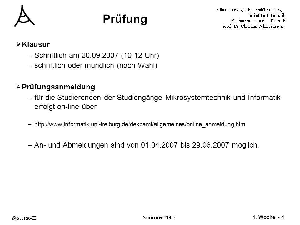 Prüfung Klausur Schriftlich am 20.09.2007 (10-12 Uhr)