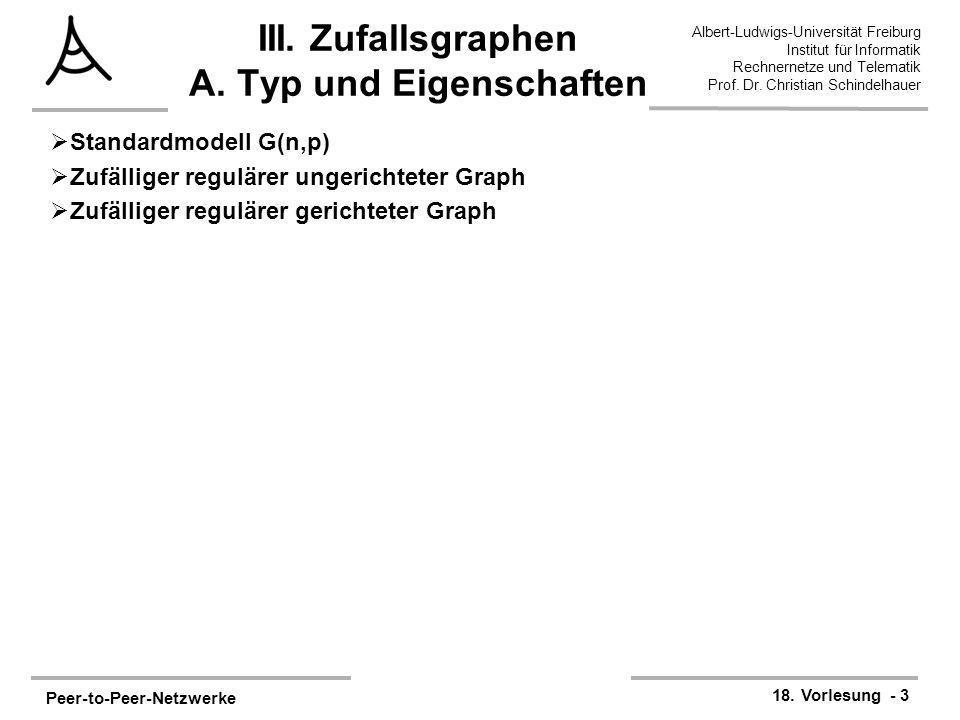 III. Zufallsgraphen A. Typ und Eigenschaften
