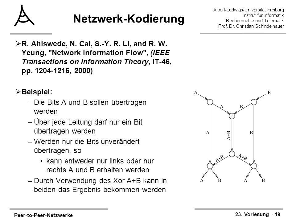 Netzwerk-Kodierung