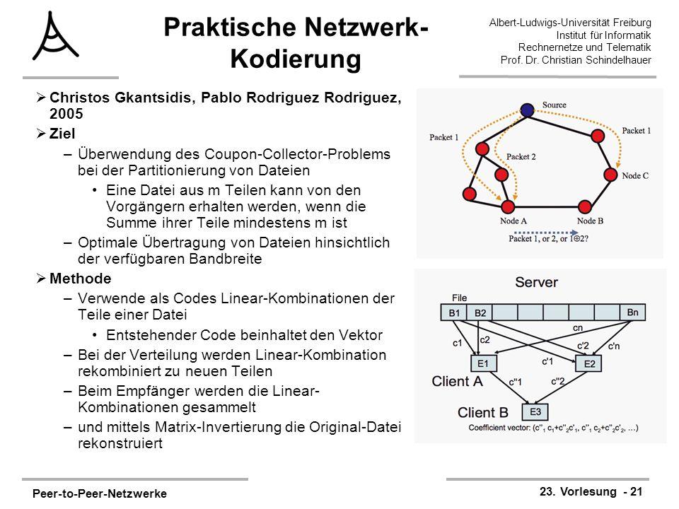 Praktische Netzwerk-Kodierung